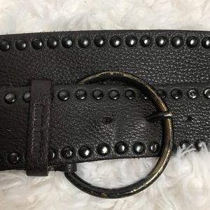 Miu Miu Studded Leather Belt